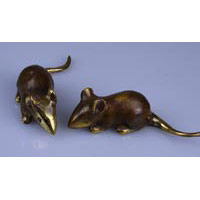 100x bronze mouse brown gold 11cm