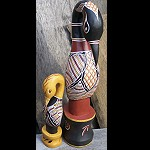 2 Vogel Set Brolga der Aborigines 38+20cm