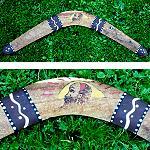Bumerang Aborigines Mulga Wood 60cm ANTIK