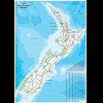 Landkarte NEW ZEALAND nord oder süd Insel