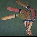 Bumerang flugfähig bemalt  6schicht  36cm