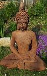 Buddha sitzend 75 cm Rost Look