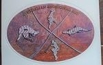 Aufkleber Aborigines Malerei 12cm