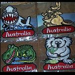 Aufnäher lustige Tiere Australiens 7cm