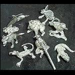 kleine feine Figuren aus Zinn