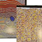 Poster 3er-Set Aborigines Malerei ca.45x35