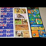 3er Aufkleber Sets Flagge, Tiere und Comic Australiens
