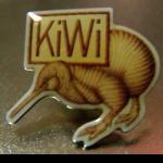 Pin mit Kiwi aus Neuseeland