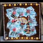 Holzschale Teller handbemalt  18x18 cm