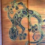 Notiz Tagebuch Echse Blätter14x9cm