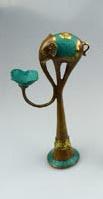 10x Elefant candleholder 25cm height GOLD
