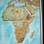 große Afrika Landkarte, Antik 160x180cm