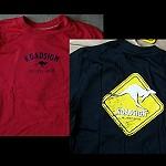 T Shirt mit Känguru Schild red