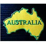 Aufnäher Landkarte Australien  8cm