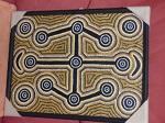 orig Malerei, Aborigines  54x40 cm, Leinen