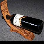 Wein Flaschenständer Holz   2 Motive