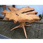 Holz Couch Garten Tisch Beistelltisch 65cm