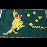 Flagge Boxing Känguru 150 cm grün
