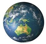 Puzzle 1000 T Australien Weltkarte 67cm