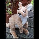 Känguru mit Baby , rausnehmbar, 29 cm