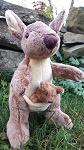 Stofftier weiches Känguru mit Baby 20cm