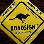 Roadsign Aufkleber Känguru Schild  ANGEBOT