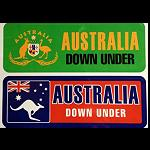 Aufkleber 4er Set Down Under 16,5x 5,5cm