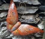 Garten Wand Metall Schmetterling 46cm