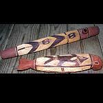 Fisch + Art Pfeife Holz geschnitzt 26-35cm