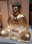 20x golden Buddha 20cm Poly.
