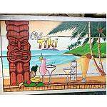 Holzschild Tiki Bar Südsee Maori 60x40cm