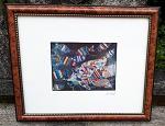 Bild Malerei Holzrahmen Glas  26x22cm