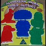 6 Keks Plätzchen Backform australien Tiere