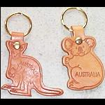 Schlüsselanhänger aus Leder Känguru Koala