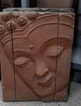 Stein-Art Platte Fliese Buddha Gesicht