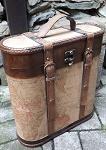 Holz Kiste Flaschen Schatztruhe 37cm