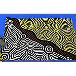 Stoffdruck Aborigines Malerei 74x47cm