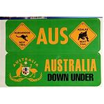Aufkleber Grün Australia 2er Set 16,5x 5,5