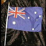Flagge Australien 30x40 mit Holzstab