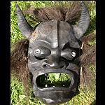 Maske Schutzgeist Papua Asmat +EchtHorn