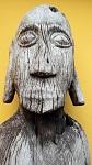 1,8 m Hampatong Stammes Führer Figur Papua