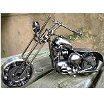 Chopper Harley aus alten Motorradteilen