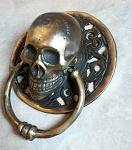 10x Bronze Skull Door brown gold 14cm