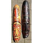 2 St�ck Maske Afrika Style Holz  2.Wahl