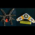 Pin Red Back Spider o Bumerang
