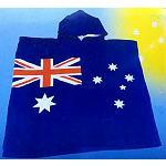 Kinder Strand Poncho Handtuch Flagge 60cm
