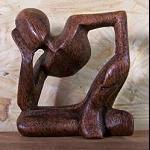 Abstrakte Figur Meditation Holz 5cm