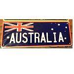 1 Auto Kennzeichen  Flagge