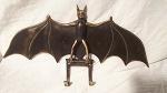 5x Key Rack Bronze Bat 33cm