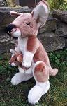 Stofftier Känguru  ca 35cm mit Baby
